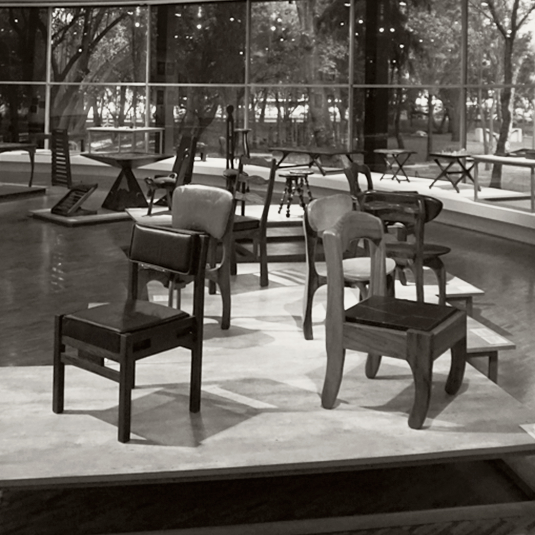 Archive photo of furniture designed by Don Shoemaker in Mexico during the 1950s