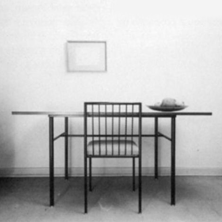 Table and chair by Geraldo de Barros and Unilabor, Brazil, 1950s.