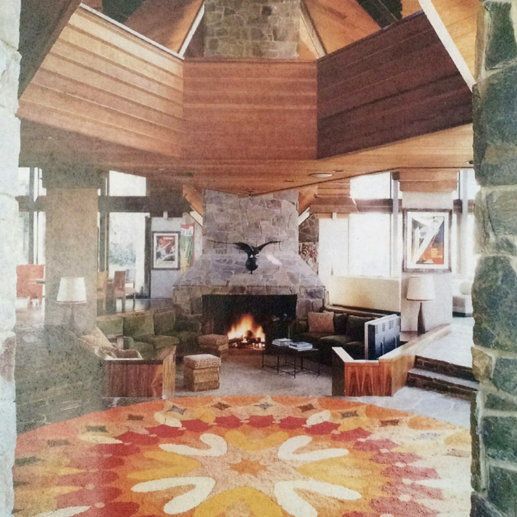 """Rug """"Shibui"""" by Cynthia Sargent photographed for house and garden magazine in 2007"""
