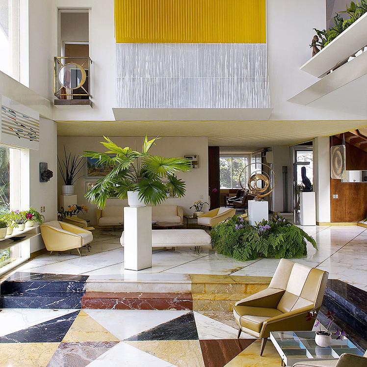 Hallway of La Villa Planchart, Caracas Venezuela designed by Gio Ponti