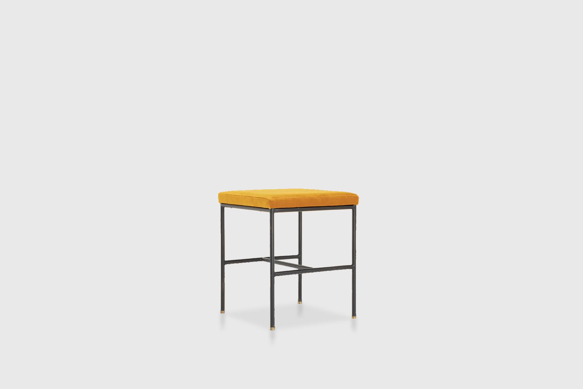 Vanity Desk Manufactured by Unilabor Brasil, 1955 Iron, jacaranda, mirror