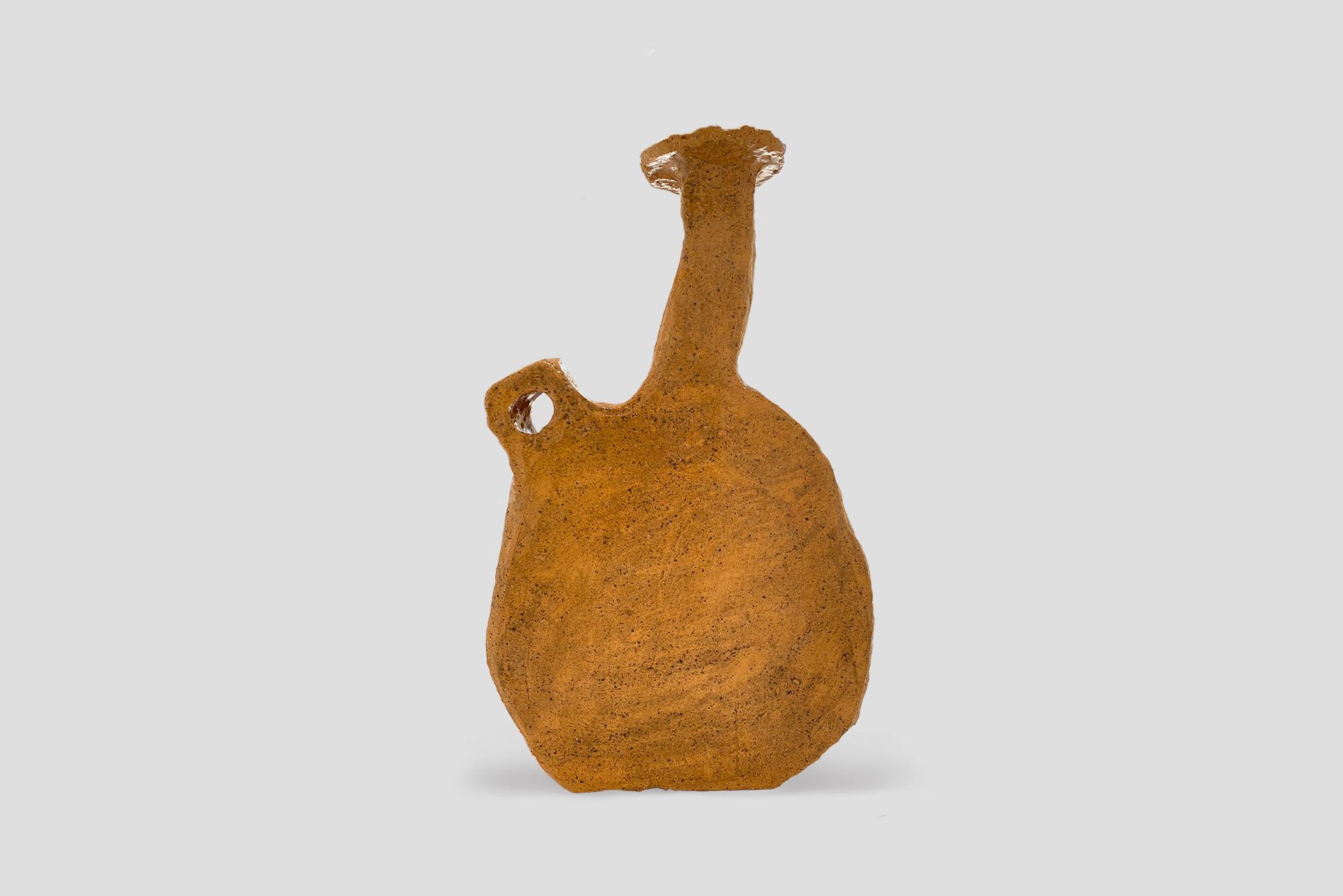 "Vase model ""Kaja"" From the series ""Core Vessels"" Manufactured by Willem van Hooff Holland, 2021 Earthenware, glazed"